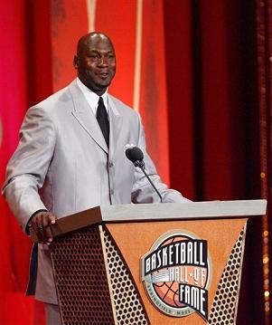 Michael jordan entre au hall of fame, le panthéon du basket NBA