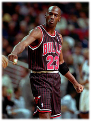 Maillot/Jersey (real19) Michael Jordan 1995/96 Procut Bulls Alternate Black