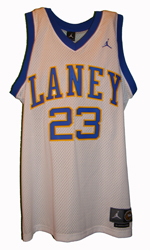 Maillot/Jersey (front2) Michael Jordan 1980 Laney Throwback Home