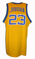 Maillot/Jersey (back3) Michael Jordan 1980 Laney Throwback Yellow