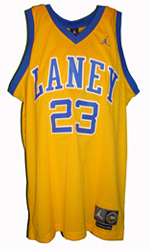 Maillot/Jersey (front3) Michael Jordan 1980 Laney Throwback Yellow