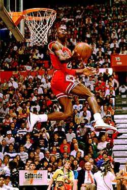 Biographique Michael Jordan slam dunk contest