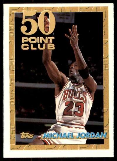 Michael Jordan - 93/94 Topps 50-Point Club Card