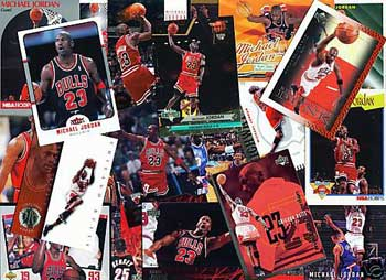 Cartes a collectionner sur Michael Jordan